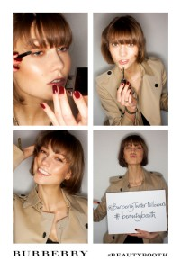 Karlie Kloss in the Burberry #beautybooth