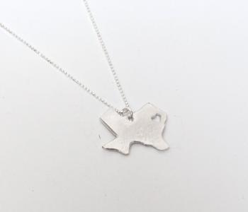 Texas Heart Necklace