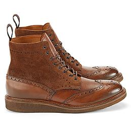 Wear these cognac-colored shoes with clean, rolled denim.