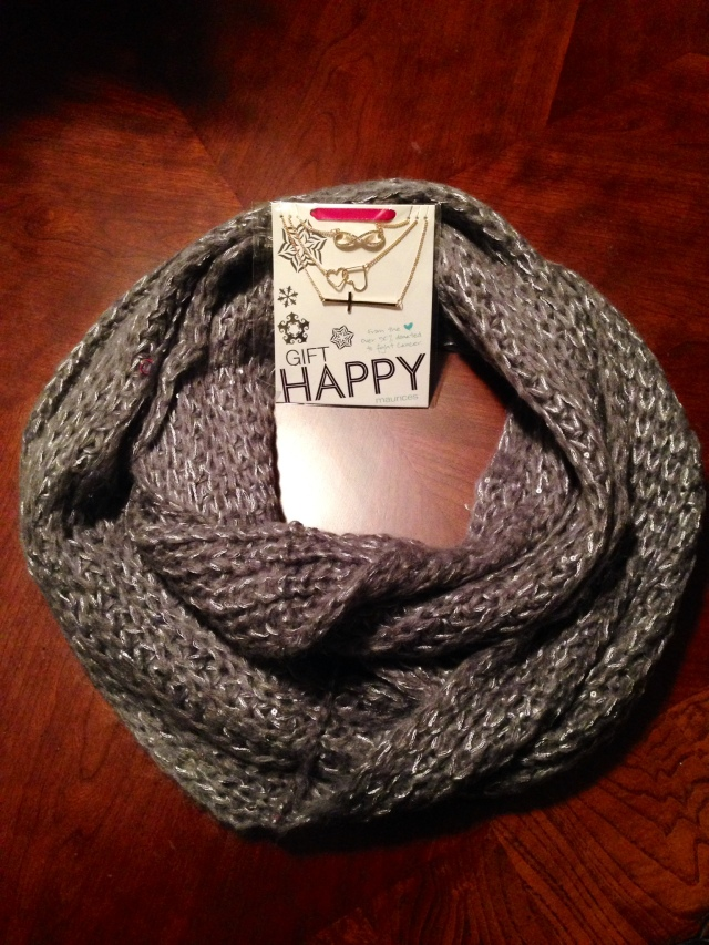 Shimmer infinity scarf