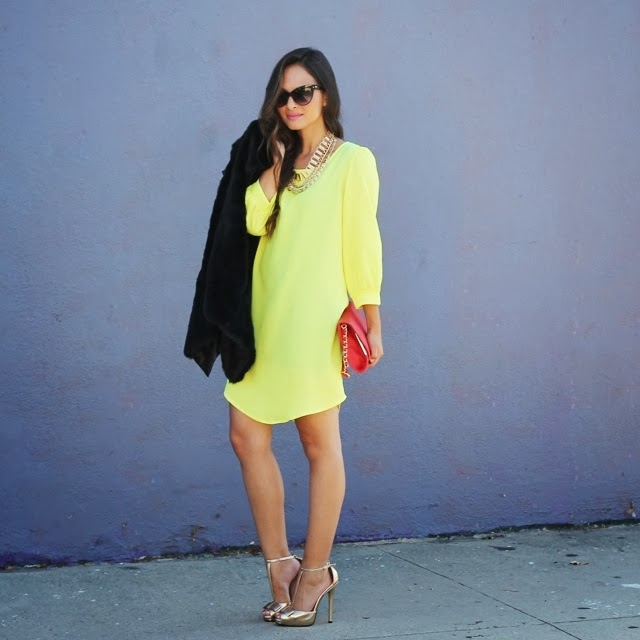 Melanee Shale yellow dress