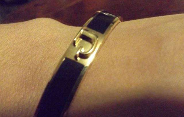 J monogram bracelet I purchased from C. Wonder