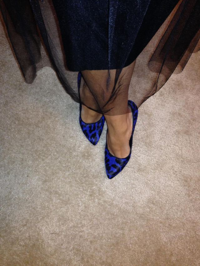 blue pumps