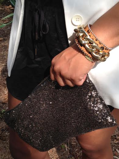 Bracelet: gifted Sequin clutch: eBay
