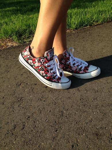 Floral Converse from Journeys Shoes