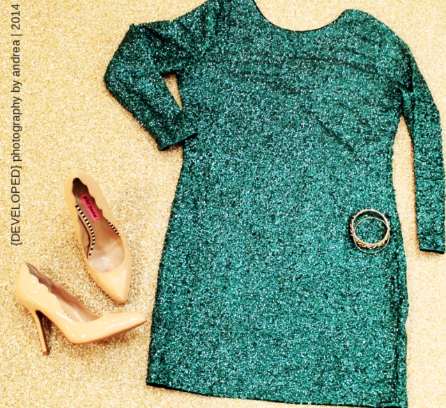 Green sequin H&M party dress
